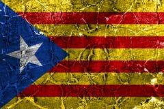 Bandeira do grunge de Catalonia, bandeira dependente do território fotografia de stock royalty free