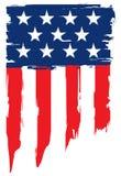 Bandeira do Grunge de Estados Unidos da América Foto de Stock