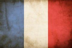 Bandeira do Grunge de França imagens de stock