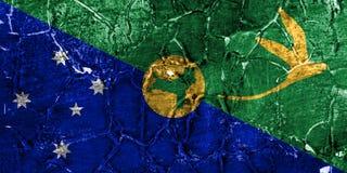Bandeira do grunge de Ilhas Christmas, bandeira dependente do território de Austrália fotografia de stock