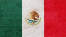 Bandeira do Grunge de México ilustração do vetor