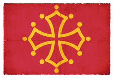 Bandeira do Grunge de Midi-Pyrenees França Foto de Stock