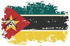 Bandeira do grunge de Moçambique Ilustração do vetor Fotos de Stock Royalty Free