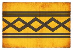 Bandeira do Grunge de West Midlands Grâ Bretanha Foto de Stock