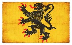 Bandeira do Grunge do Nord-Pas-de-Calais França Fotografia de Stock Royalty Free