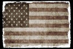 Bandeira do grunge dos EUA Imagens de Stock