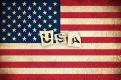 Bandeira do Grunge dos EUA com texto Imagem de Stock Royalty Free