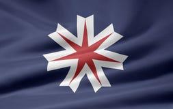 Bandeira do Hokkaido - Japão Foto de Stock Royalty Free
