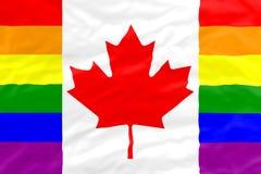 Bandeira do homossexual de Canadá Fotografia de Stock