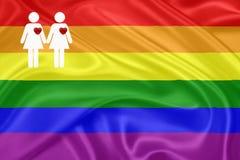 Bandeira do homossexual do arco-íris Imagem de Stock Royalty Free