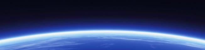 Bandeira do horizonte e do mundo Imagem de Stock Royalty Free