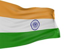 bandeira do Indian 3D Imagem de Stock