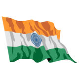 Bandeira do Indian de India Foto de Stock Royalty Free