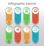 Bandeira do infographics de Moden Foto de Stock Royalty Free