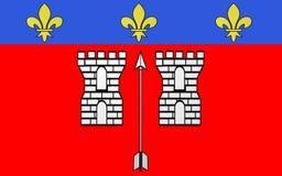Bandeira do La Fleche, França fotografia de stock royalty free