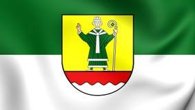 Bandeira do Landkreis de Cuxhaven, Alemanha Fotos de Stock