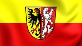 Bandeira do Landkreis de Goslar, Alemanha Fotografia de Stock