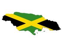 Bandeira do mapa de Jamaica Fotos de Stock Royalty Free