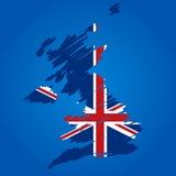 Bandeira do mapa do vetor do Reino Unido Fotos de Stock Royalty Free