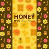 Bandeira do mel e da abelha Fotos de Stock Royalty Free