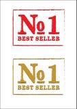 Bandeira do melhor vendedor do número um Fotografia de Stock