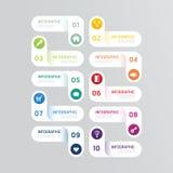 Bandeira do molde das opções do projeto de Infographics Ilustração do vetor ilustração do vetor