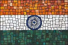 Bandeira do mosaico da Índia fotos de stock royalty free