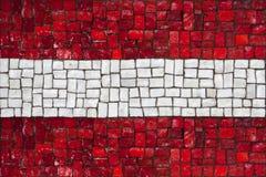 Bandeira do mosaico de Áustria fotos de stock royalty free