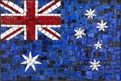 Bandeira do mosaico de Austrália fotografia de stock