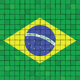 A bandeira do mosaico de Brasil Imagem de Stock Royalty Free