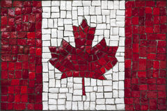 Bandeira do mosaico de Canadá foto de stock