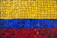 Bandeira do mosaico de Colômbia imagens de stock