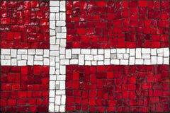 Bandeira do mosaico de Dinamarca foto de stock