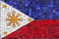 Bandeira do mosaico de Filipinas foto de stock royalty free