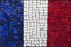 Bandeira do mosaico de france fotografia de stock