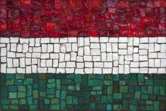Bandeira do mosaico de Hungria fotografia de stock