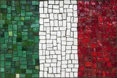 Bandeira do mosaico de Itália foto de stock