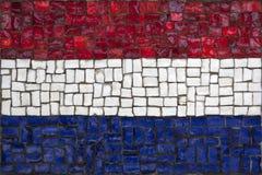 Bandeira do mosaico de Netherland fotos de stock