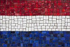 Bandeira do mosaico de Netherland fotografia de stock royalty free