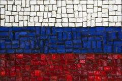 Bandeira do mosaico de Rússia imagem de stock royalty free