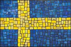 Bandeira do mosaico de sweden fotografia de stock