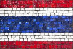 Bandeira do mosaico de Tailândia fotos de stock