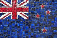 Bandeira do mosaico do zeland novo fotos de stock royalty free