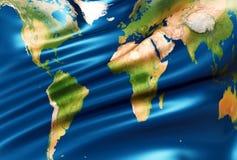 Bandeira do mundo Fotos de Stock Royalty Free