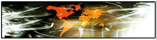 Bandeira do mundo Imagens de Stock