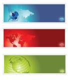 Bandeira do mundo Fotografia de Stock