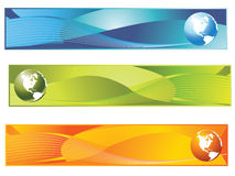 Bandeira do mundo Fotografia de Stock Royalty Free