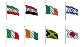 A bandeira do mundo ajustou 11 Fotografia de Stock