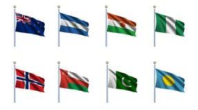 A bandeira do mundo ajustou 17 Imagens de Stock Royalty Free