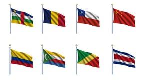 A bandeira do mundo ajustou 5 ilustração stock